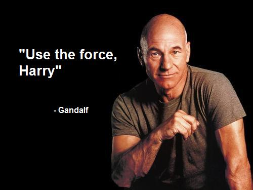 'Use the Force, Harry' - Gandalf (picture of Jean-Luc Picard)