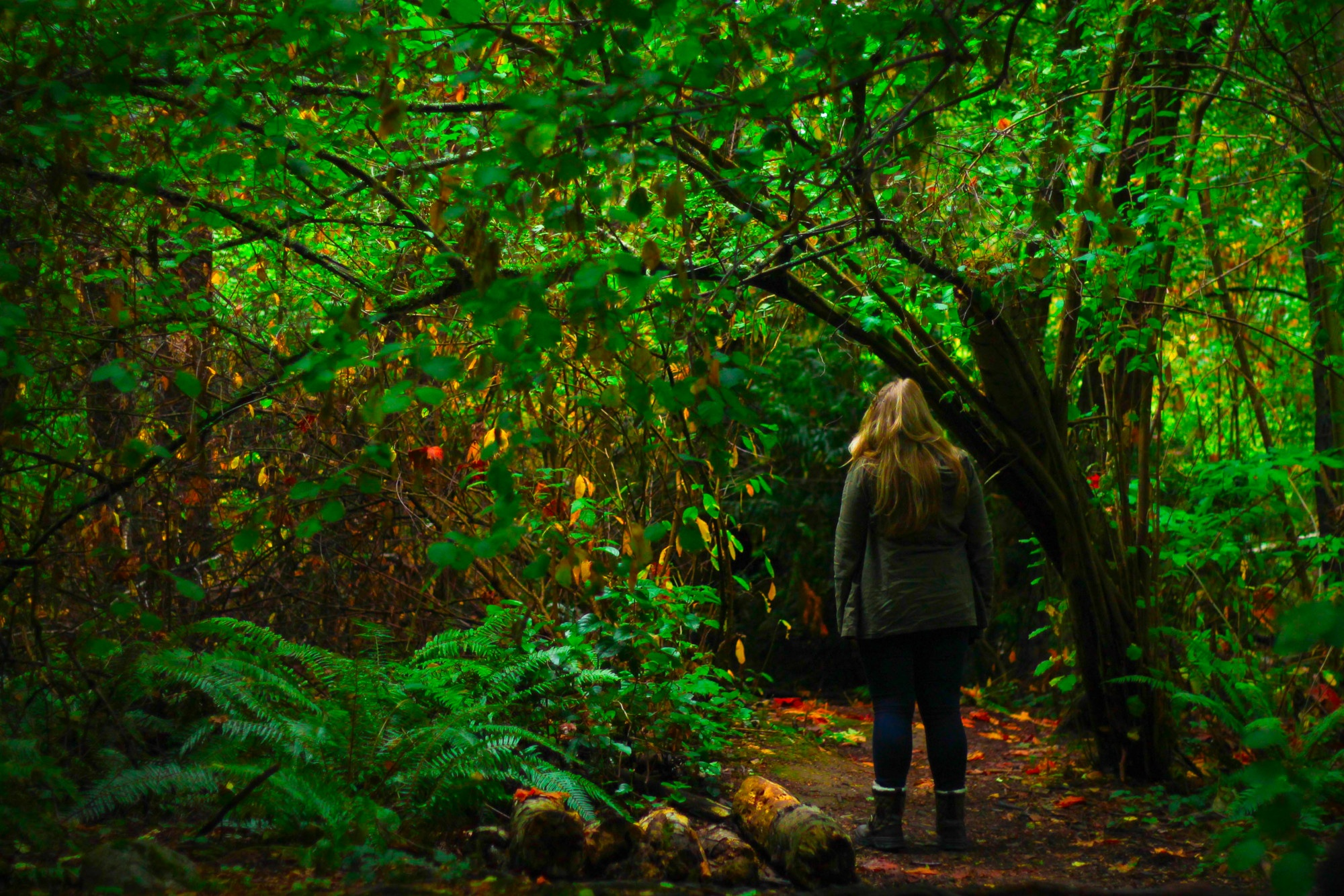 Woman in Forest