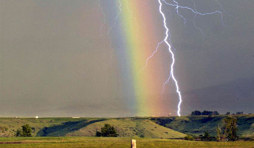 The rainbow is a sign of God's grace.