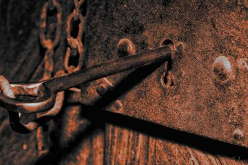 Old key in lock