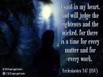 Ecclesiastes 3:17