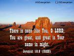 Jeremiah 10:6