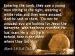 Mark 16:5-6