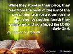Nehemiah 9:3