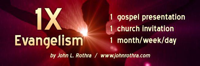 Bookmark 1X Evangelism - front