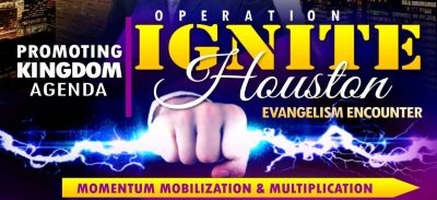 Operation Ignite Houston Evangelism Encounter promotional poster