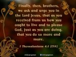 1 Thessalonians 4:1