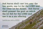 Leviticus 16:8-9