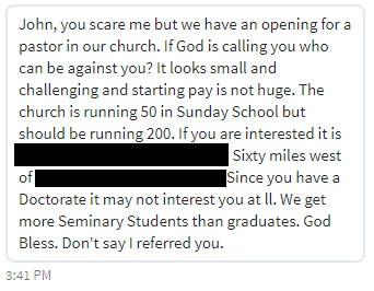A confusing message intended to recruit me.