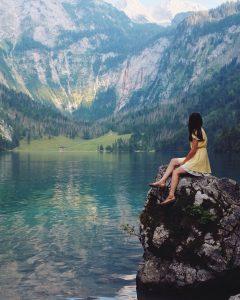 Woman at German Alps