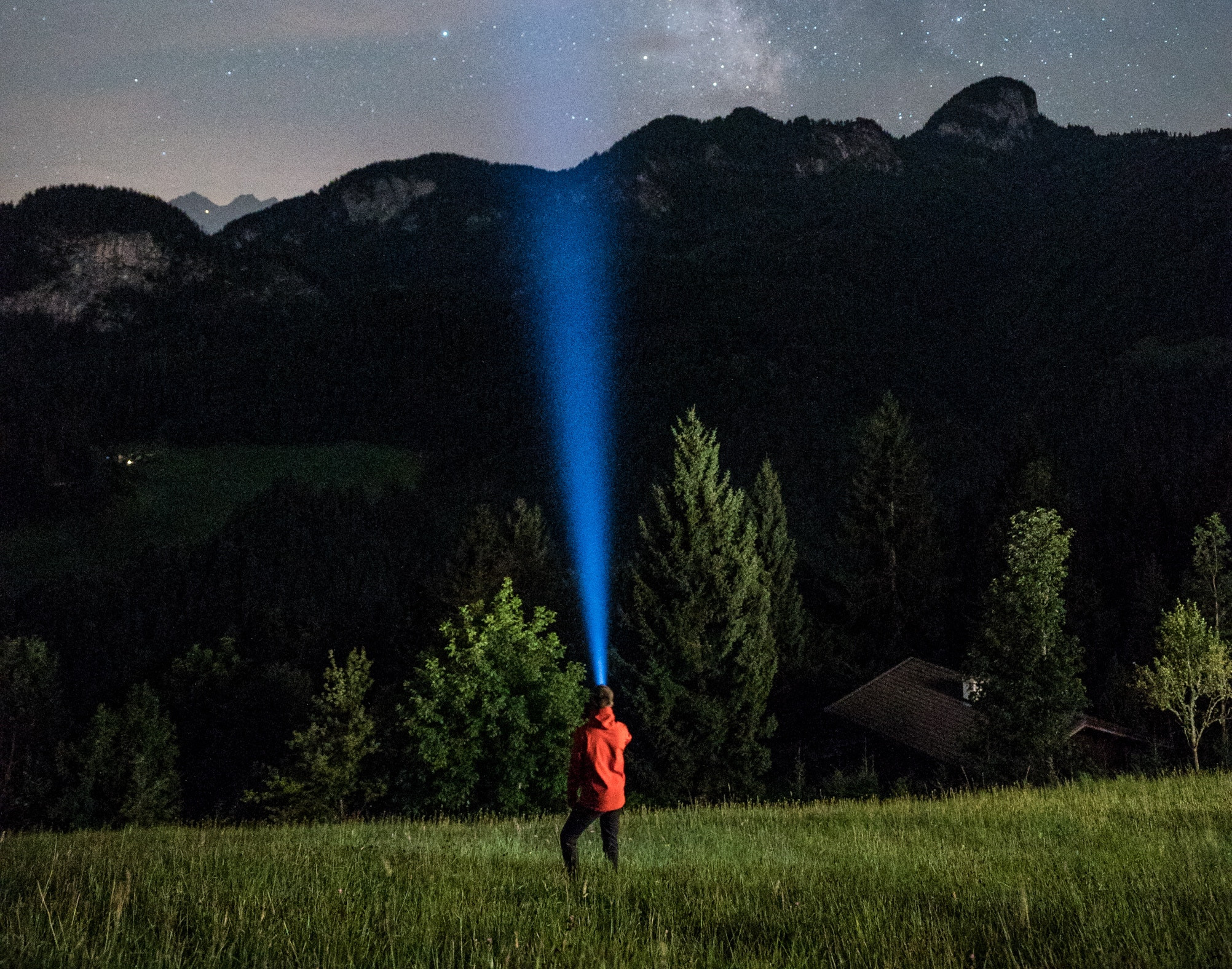 Flashlight in Field