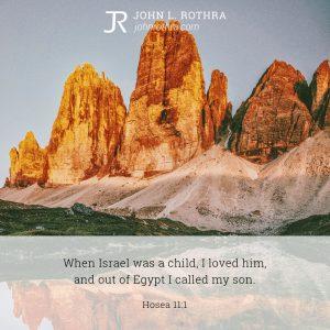 Hosea 11:1