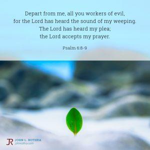 Psalm 6:8-9