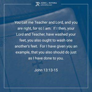 John 13:13-15