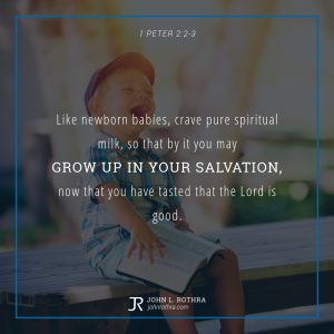 1 Peter 2:2-3