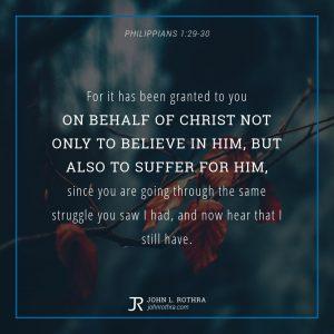 Philippians 1:29-30