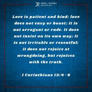 1 Corinthians 13:4-6