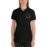 Women's Polo Shirt: Logo & Know Show Share Slogan