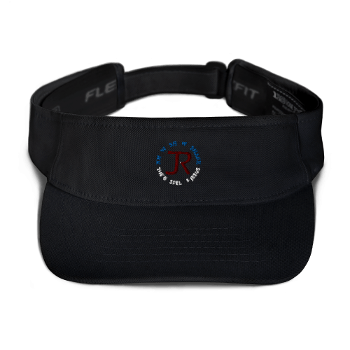 Black sports visor with JR logo and Know Show Share the gospel of Jesus