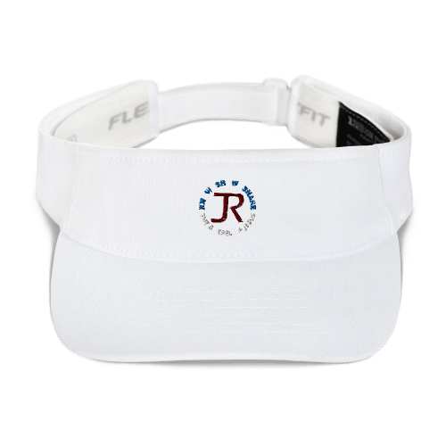 White sports visor with JR logo and Know Show Share the gospel of Jesus