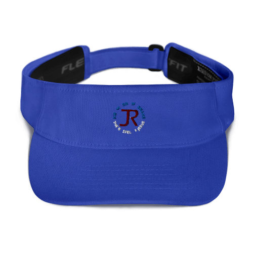 Royal blue sports visor with JR logo and Know Show Share the gospel of Jesus