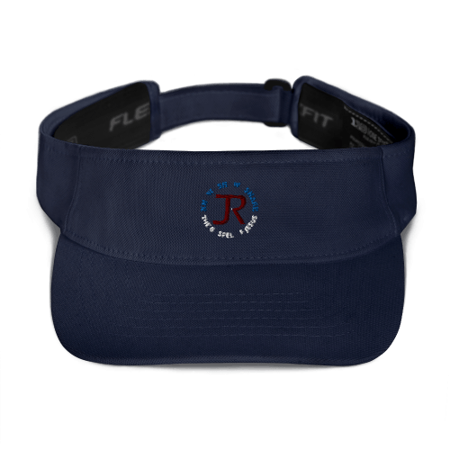 Navy blue sports visor with JR logo and Know Show Share the gospel of Jesus