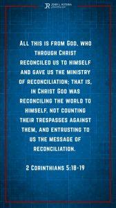 Instagram story meme quoting 2 Corinthians 5:18-19