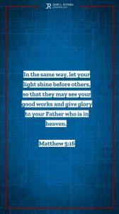 Instagram story meme quoting Matthew 5:16