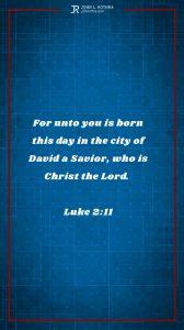 Instagram story Bible verse meme quoting Luke 2:11
