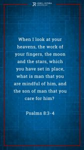 Instagram story meme quoting Psalm 8:3-4