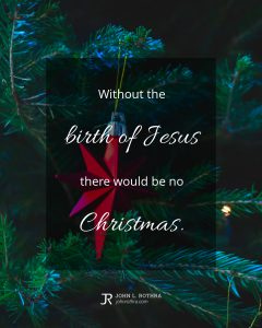 Quote meme about Christmas with star ornament on tree