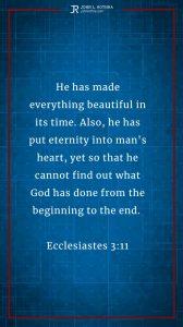 Instagram story meme quoting Ecclesiastes 3:11