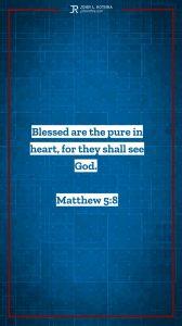 Instagram story Bible verse meme quoting Matthew 5:8