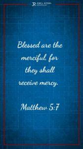 Instagram story Bible verse meme quoting Matthew 5:7