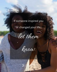 quote meme about inspiration with two smiling women