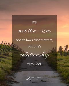 quote meme about theology with road through vineyard
