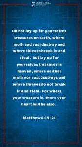 Instagram story Bible verse meme quoting Matthew 6:19-21
