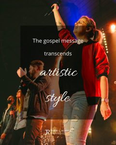 quote meme about worship with church praise team lifting hands