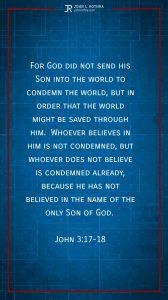 Instagram story Bible verse meme quoting John 3:17-18