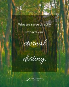 quote meme about salvation with path through trees
