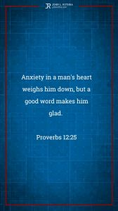 Instagram story Bible verse meme quoting Proverbs 12:25