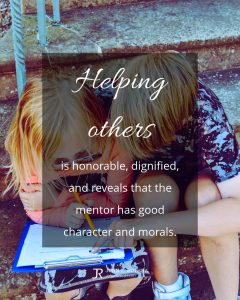 quote meme about helping others with one child helping another child with schoolwork