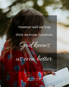 quote meme about theology with woman reading Bible