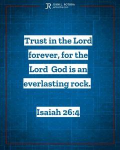Instagram story Bible verse meme quoting Isaiah 26:4