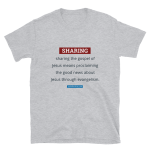 Short-Sleeve T-Shirt: Sharing Definition (dark text)