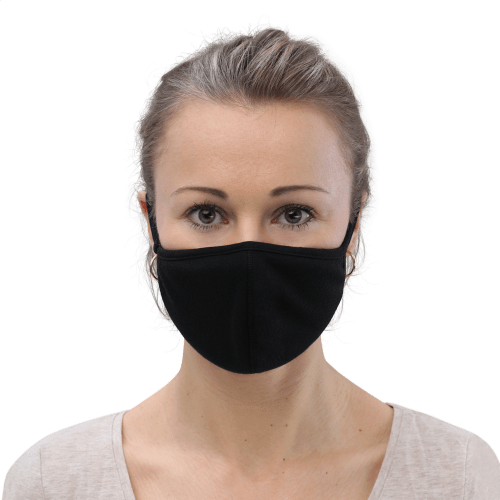 woman wearing face mask front view