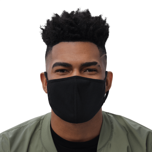 man wearing face mask front view
