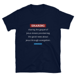 Short-Sleeve T-Shirt: Sharing Definition (light text)