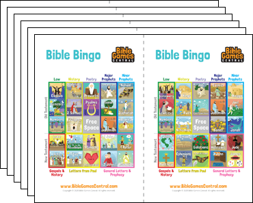 Bible Bingo cards from BibleGamesCentral.com