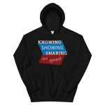 Pull-Over Hoodie: Know Show Share Geometric